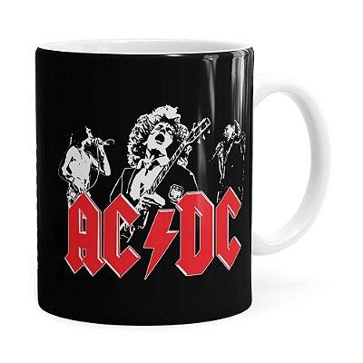Caneca AC DC Banda History Branca