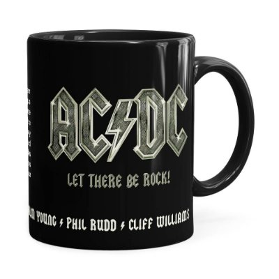 Caneca AC DC Let There Be Rock Preta