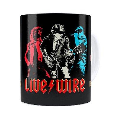 Caneca AC DC Live Wire Branca