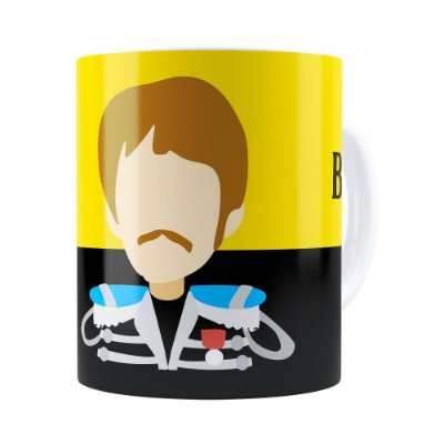 Caneca Beatles Paul Banda Branca