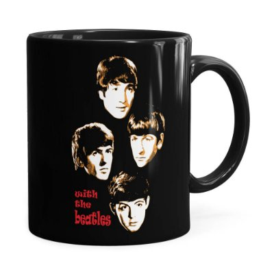 Caneca Beatles With The Beatles Preta