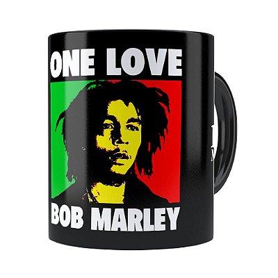 Caneca Bob Marley One Love Preta