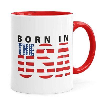 Caneca Born in The USA Vermelha
