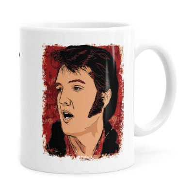 Caneca Elvis Presley Arte History Branca