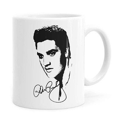 Caneca Elvis Presley Face Branca