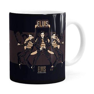 Caneca Elvis Presley Poster Branca