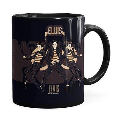 Caneca Elvis Presley Poster Preta