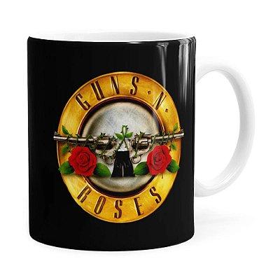 Caneca Guns N Roses Logo Branca