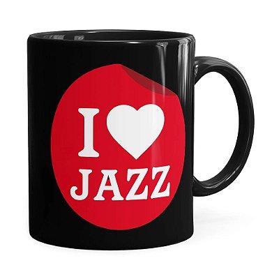 Caneca I Love Jazz v02 Preta