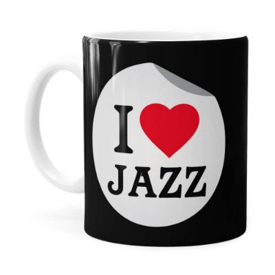 Caneca I Love Jazz v03 Branca