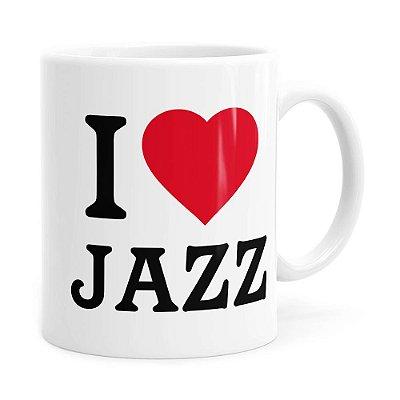 Caneca I Love Jazz v04 Branca