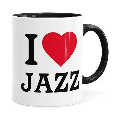 Caneca I Love Jazz v04 Preta
