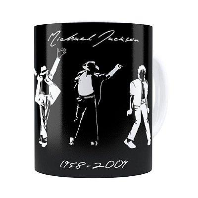 Caneca Michael Jackson Moonwalker e Historia Branca