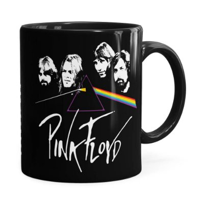 Caneca Pink Floyd The Dark Side of the Moon v02 Preta
