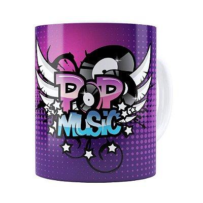 Caneca Pop Music Branca