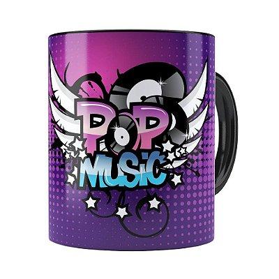 Caneca Pop Music Preta