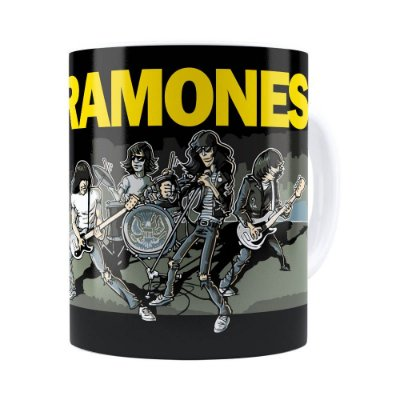 Caneca Ramones Cartoon Branca