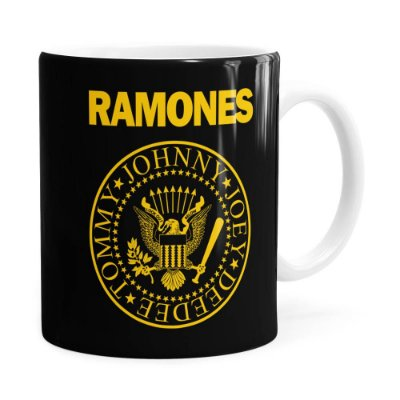 Caneca Ramones Logo President Branca