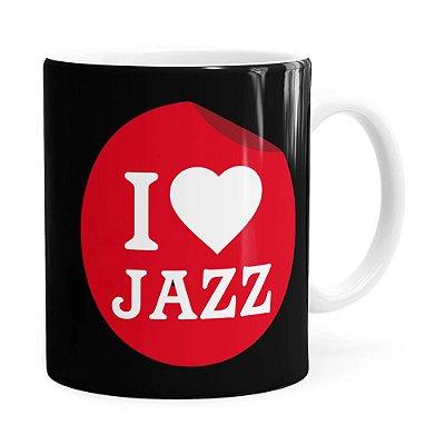 Caneca I Love Jazz v02 Branca
