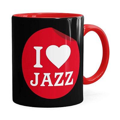 Caneca I Love Jazz v02 Vermelha