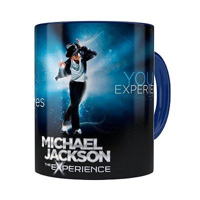 Caneca Michael Jackson The Experience Azul Escuro