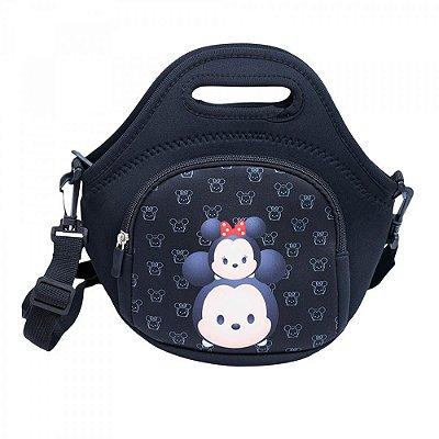 Bolsa Térmica Mickey Minnie Preta Tsum Tsum