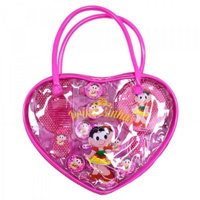 Bolsinha Magali Princesa Com Acessórios Para Cabelo Rosa