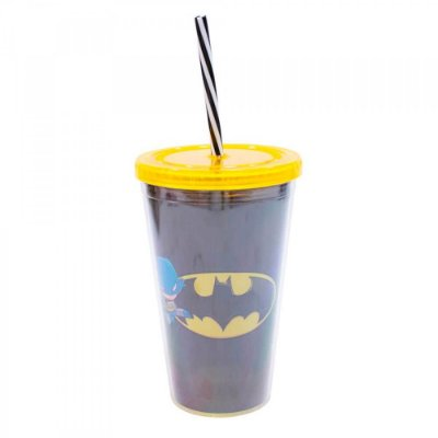 Copo Batman Com Canudo 450ml