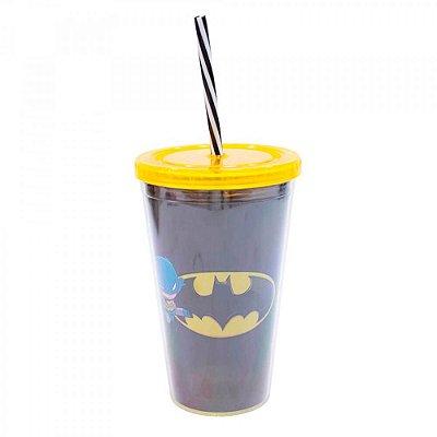 Copo Batman Com Canudo 450ml