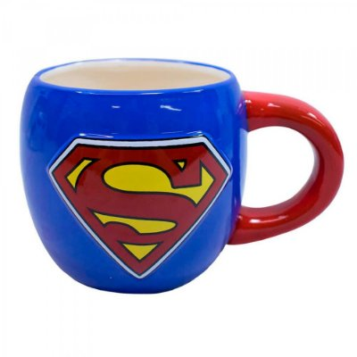 Caneca Superman Oval Porcelana 600ml