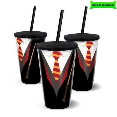 Copo Harry Potter com Canudo 500ml