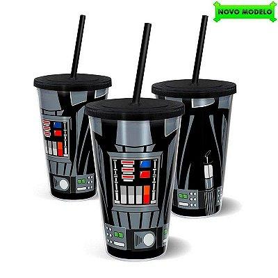 Copo Star Wars Lado Negro com Canudo 500ml