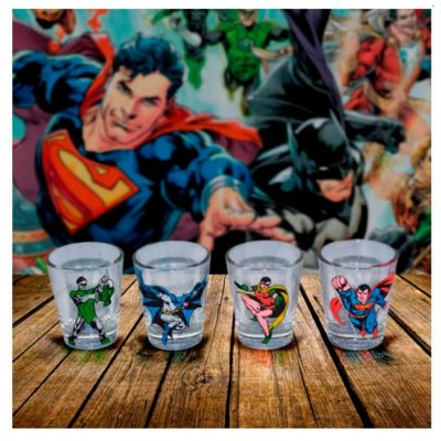 Jogo de copos Shot DC Comics