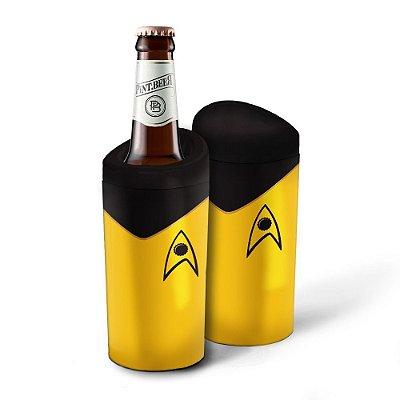 Porta Garrafa Geek Star Trek Amarela 600ml