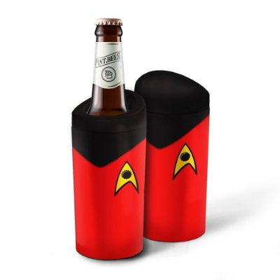 Porta Garrafa Geek Star Trek Vermelho 600ml