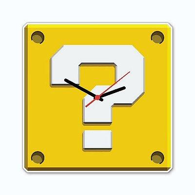 Relógio Geek Interrogação Marios