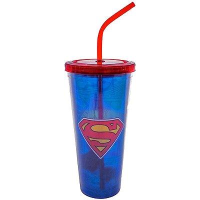 Copo Superman com Cubos de Gelo 600ml