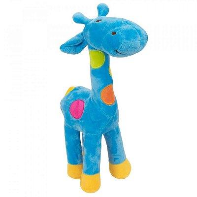Pelúcia Girafa Azul Plush 34cm
