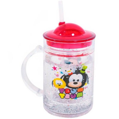 Caneca Mickey Friends Tsum Tsum com Tampa 200ml