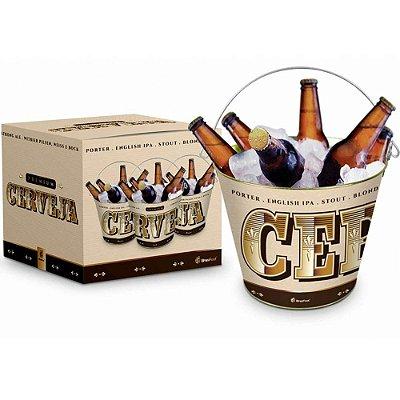 Balde de Gelo Metal Cervejas Premium 5 Litros