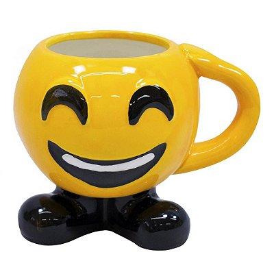 Caneca 3D Emoticon Feliz Porcelana 400ml