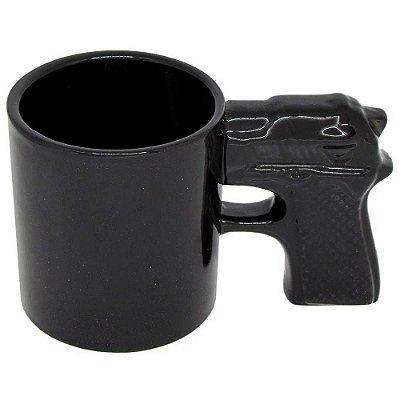Caneca 3D Pistola Revólver Shape 350ml