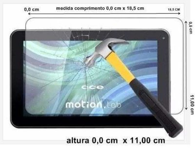 Película de Vidro Temperado Universal para Tablet Tela de 7 Polegadas 18.5x11cm