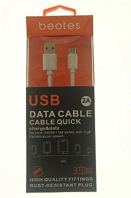 Cabo de Dados iPhone 5-5s-5c-6-6s-6plus Beotes Três Metros