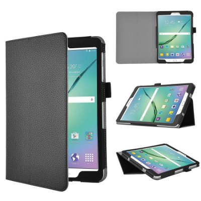 Capa Couro Sintético Estilo Pasta Cor Preta para Tablet Samsung Galaxy Tab A T285-T280