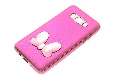 Capinha de Celular Samsung Galaxy J5-2016-J5 Metal SM-J510 Pink Lacinho
