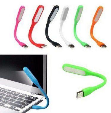 Mini Luminária USB LED Flexível Para Notebook Pc Mac Cores Sortidas