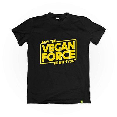 Camiseta Vegan Force - Preta