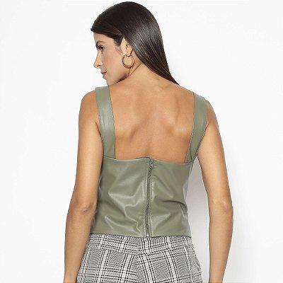 Blusa Anne Leather