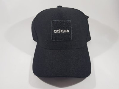 Boné Snapback Adidas - Aba curva - Preto